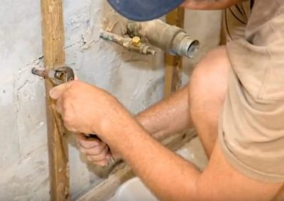 Lubbock Plumbers at a job site